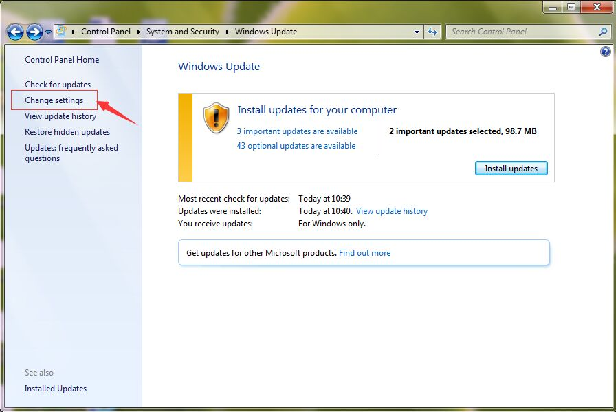 Windows 7 Update Not Working - LionSea Software